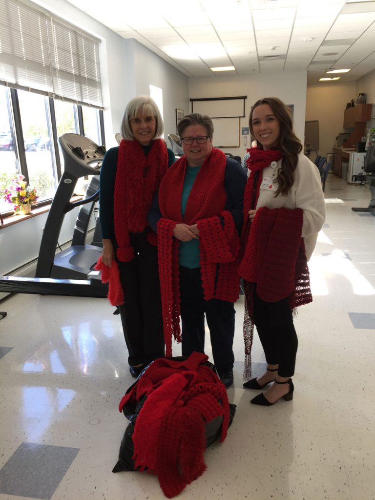 Red Scarves donation at Southern Maine Med Oct 2018